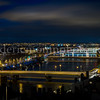 Bridges of Rhône at Lyon by night