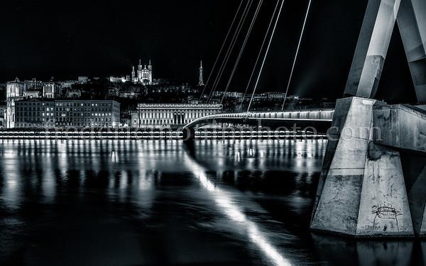Night on the Saône in Lyon