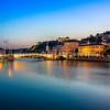 Blue Hour on the banks of Saône