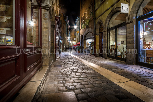 Beef street in the Old Lyon ...