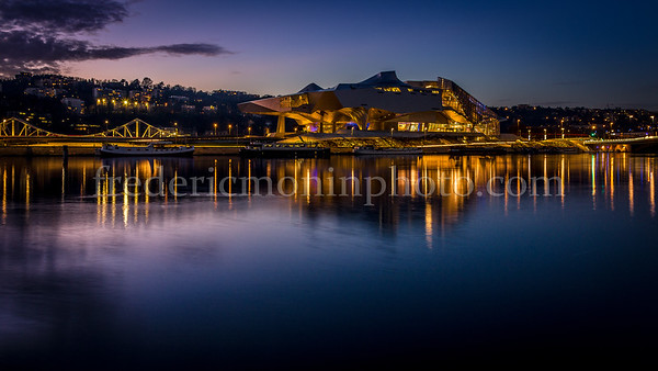 Confluence Museum at Lyon by night