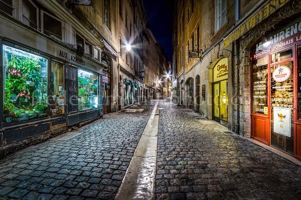 St-Jean street in the old Lyon ...