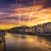Colors of the summer on the Saône in Lyon