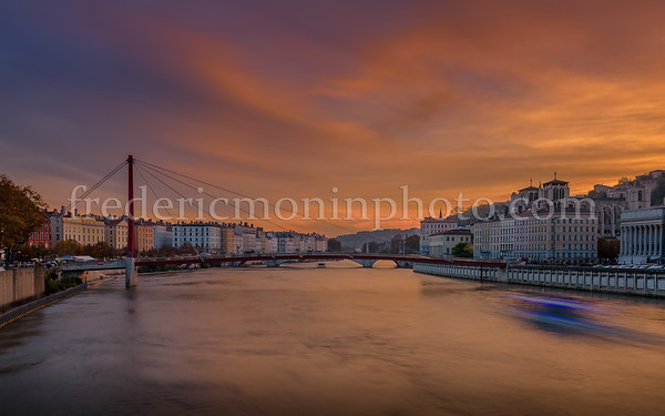 Sunset on the Saône at Lyon