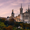 Autumn of the basilica of Fourvière at Lyon