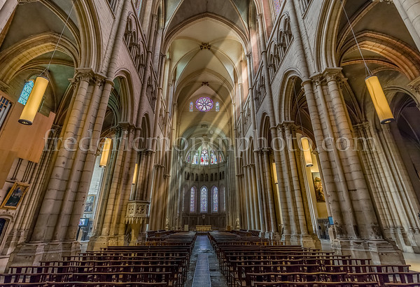 Inside of Basilica of Fourvière at Lyon