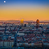 Colors on Lyon, the Alpes (with the Mont-Blanc) ... and the Moon !!!