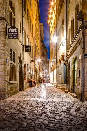 Rue du Beauf dans le Vieux Lyon
