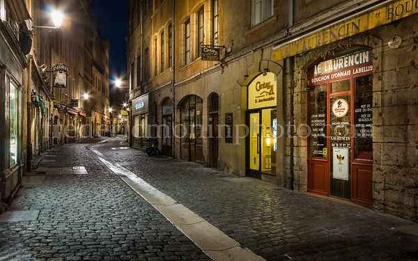 St-Jean street in the old Lyon ...