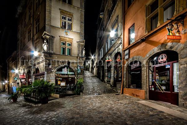 """""""Montée du Gourguillon"""" in the old Lyon"""