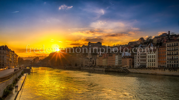 Sunset on the Saône