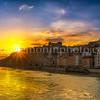 Sunset on the Saône
