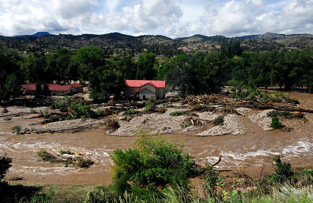 . Flood damage along U.S. 36 north of Lyons is seen on Friday, Sept. 13, 2013. (Greg Lindstrom/Times-Call)