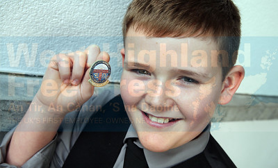 Finlay MacLennan from Inverness was the boys traditional solo U-13 winner and second in the fiddle competition.