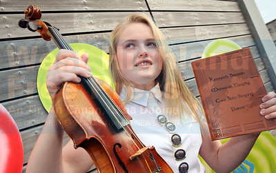 Alice MacMillan (12) from Point was the winner of the fiddle competition and also the girls solo traditional U-13.