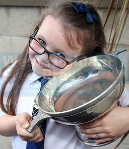 Hannah Jane MacLeod (6) from Lennoxtown won the Rev Donald Stewart (Duntulm) Memorial Quaich for poetry and also solo singing 5-6.  Hannah Jane's mum is from Kilmuir and her dad is from Uig, Lewis.