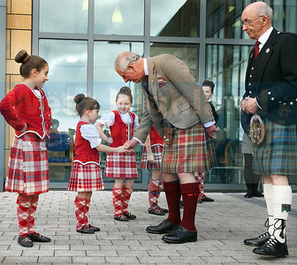 Prince Charles offers some words of encouragement to five year old dancer Ellie Rose Laurie from Harris.