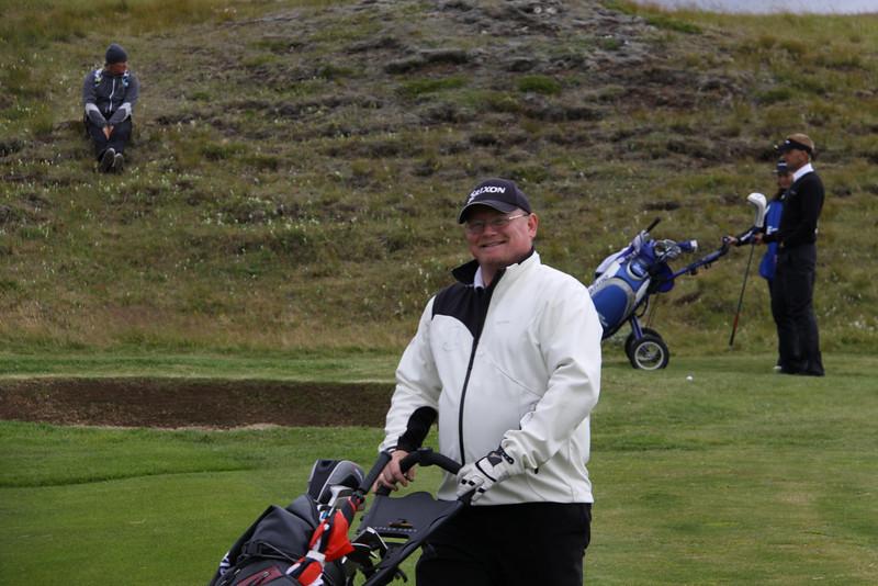 Örn Ævar Hjartarson og Birgir Leifur Hafþórsson. Með þeim fylgist Ingi Rúnar Gíslason