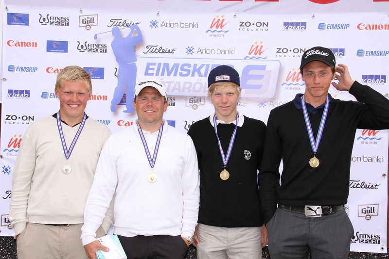 Axel Bóasson, Hlynur Geir Hjartarson, Arnar Snær Hákonarson, Guðmundur Ágúst Kristjánsson,