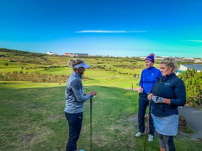 Nína Björk Geirsdóttir, Anna Sólveig Snorradóttir, Ragnhildur Sigurðardóttir.  Íslandsmót golf 2019 Grafarholt - 1. keppnisdagur. Mynd: seth@golf.is