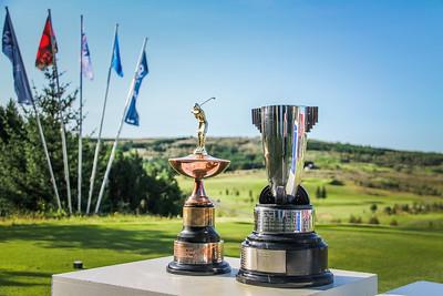 Íslandsmeistarabikarar. Íslandsmót golf 2019 Grafarholt - 1. keppnisdagur. Mynd: seth@golf.is
