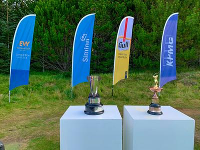 Íslandsmeistarabikarar Íslandsmót golf 2019 Grafarholt - 1. keppnisdagur. Mynd: seth@golf.is