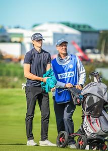 GK, Bjarki Snær Halldórsson og Halldór Ingólfsson.  Íslandsmót í golfi 2019 - Grafarholt 2. keppnisdagur Mynd: seth@golf.is
