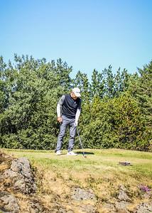 Arnór Ingi Finnbjörnsson, GR, á 2. teig á Garðavelli.  Mynd/seth@golf.is
