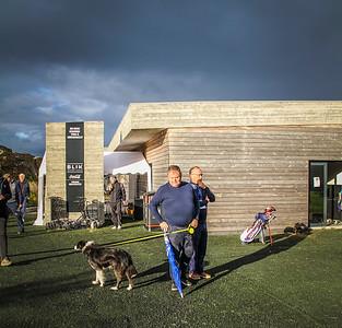 Eldur, Þorsteinn Hallgrímsson, Hörður Geirsson.  Íslandsmót í golfi 2020 - 1. keppnisdagur. Mynd/seth@golf.fis