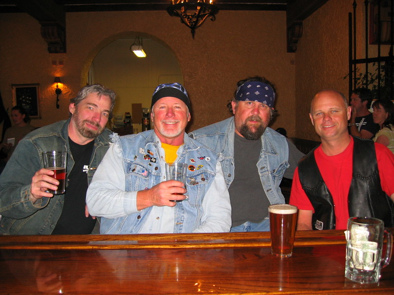 Mike, Mike. Doc, Heller-Dog @ the Holland Hotel brewpub