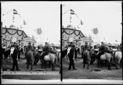 Konungskoma Friðriks VIII, 1. ágúst 1907.   MAÓ 73.