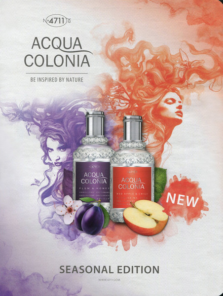MAURER & WIRTZ Nº 4711 Acqua Colonia Seasons Edition (Plum & Honey - Red Apple & Chili' 2016 Belgium 'Be inspired by nature - New'