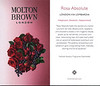 MOLTON BROWN Rosa Absolute 2016 UK (recto-verso tester card 4 x 7 cm) 'London via Lombardia - Voluptious. Dramatic. Impassioned.'