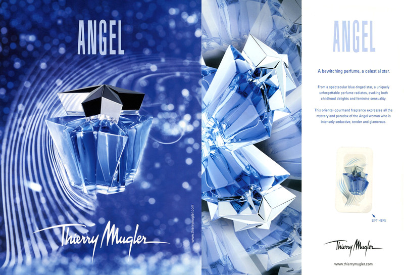 THIERRY MUGLER Angel 2007 UK (recto-verso with scent patch) 'A bewitching perfume, a celestial star'