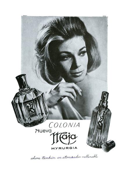 MYRURGIA Nueva Maja 1967 Spain (format 13 x 18 cm) 'ahora también en atomizador rellenable'