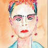 Frida 2 -- Artist: Michealyn Kvasnik - - - Medium: Watercolor Pencil