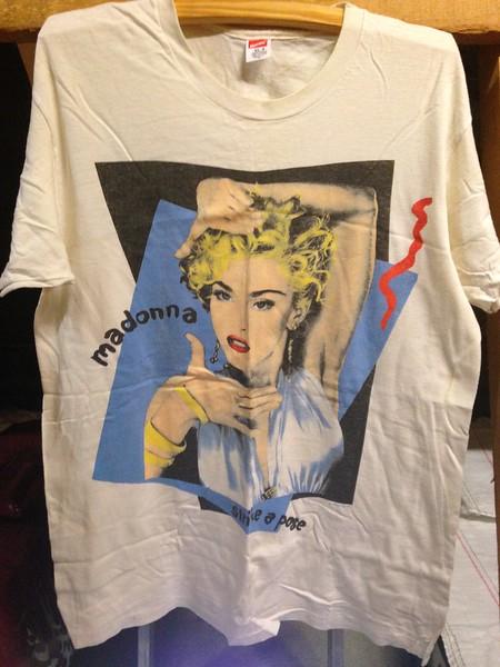 Madonna, 1990. Blond Ambition tour t-shirt.