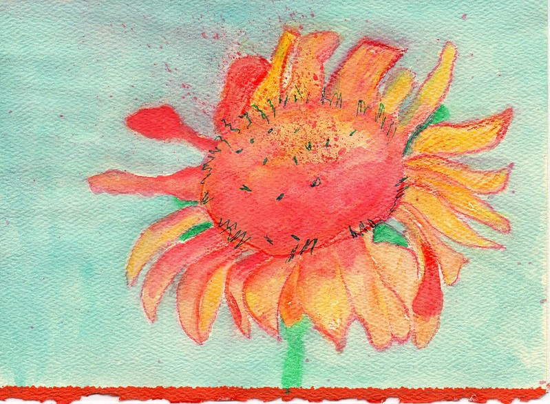 """Flower"" -- Artist: Michealyn Kvasnik -- Medium: Watercolor Pencil"