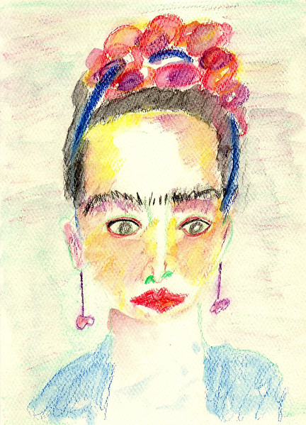 """Frida"" -- Artist: Michealyn Kvasnik - - - Medium: Watercolor Pencil"