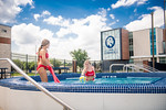 M21086- Campus Rec Pool, Lifeguards playing-1041