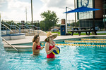 M21086- Campus Rec Pool, Lifeguards playing-1117