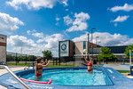 M21086- Campus Rec Pool, Lifeguards playing-1066