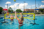 M21086- Campus Rec Pool, Lifeguards playing-1120