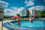 M21086- Campus Rec Pool, Lifeguards playing-1076