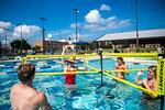M21086- Campus Rec Pool, Lifeguards playing-1175