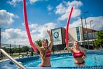 M21086- Campus Rec Pool, Lifeguards playing-1078