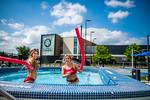 M21086- Campus Rec Pool, Lifeguards playing-1090