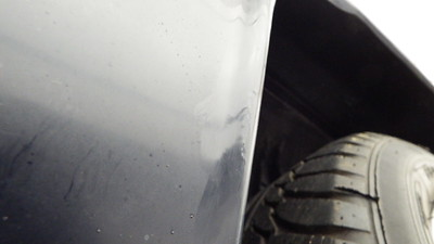 Bubbling paint to front lower wheel arch
