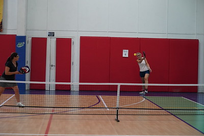 MA Sr Pickleball Tournament - Bev and Chris on Different Court    - 213
