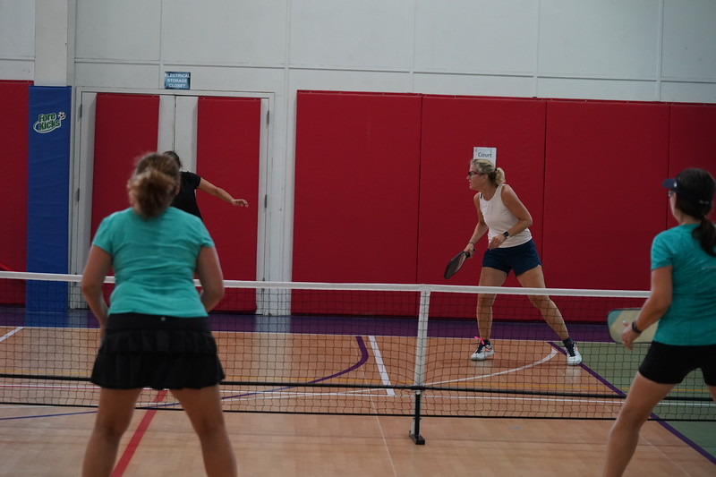 MA Sr Pickleball Tournament - Bev and Chris on Different Court    - 196